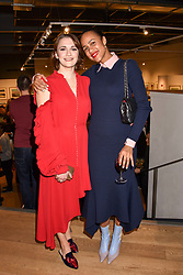 Left to right, Charlotte Ritchie and Zawe Ashton at The Philanthropist After Party held at The Mall Galleries, 17 Carlton House Terrace, London England. 20 April 2017.
