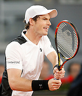Andy Murray during the Madrid Open at Manzanares Park Tennis Centre, Madrid<br /> Picture by EXPA Pictures/Focus Images Ltd 07814482222<br /> 06/05/2016<br /> ***UK &amp; IRELAND ONLY***<br /> EXPA-ESP-160506-0004.jpg