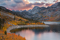 Autumn colors and the sunset climax in unison