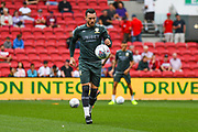 Jack Harrison of Leeds United (22) warming up during the EFL Sky Bet Championship match between Bristol City and Leeds United at Ashton Gate, Bristol, England on 4 August 2019.