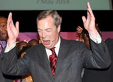 MAY 07 2014 UKIP Leader Nigel Farage at public meeting