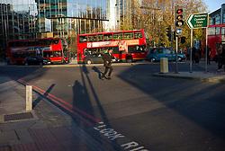 UK ENGLAND LONDON 18NOV11 - Street scene along the Euston Road in central London.....jre/Photo by Jiri Rezac....© Jiri Rezac 2011