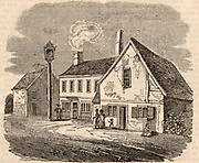 Birthplace of William Cobbett (1762-1835) English radical and champion of the poor, at Farnham, Surrey. Wood engraving from 'The Mirror' (London, 30 April 1836).