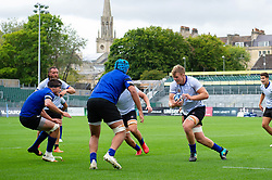 Josh McNally goes on the attack, Bath Rugby were allowed to start Stage Two of the Premiership Rugby return to play protocol - Mandatory byline: Patrick Khachfe/JMP - 07966 386802 - 06/08/2020 - RUGBY UNION - The Recreation Ground - Bath, England - Bath Rugby training