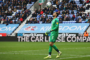 Wigan Athletic goalkeeper David Marshall (1) during the EFL Sky Bet Championship match between Wigan Athletic and Nottingham Forest at the DW Stadium, Wigan, England on 20 October 2019.