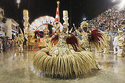 """Dancers participate in the parade of the Samba school """"Unidos do Viradouro"""", in the first performing night of the Special Group of the Rio de Janeiro Carnival, in the Sambadrome Marques de Sapucai, in Rio de Janeiro, Brazil, on Feb. 15, 2015. EXPA Pictures © 2015, PhotoCredit: EXPA/ Photoshot/ AGENCIA ESTADO<br /> <br /> *****ATTENTION - for AUT, SLO, CRO, SRB, BIH, MAZ only*****"""