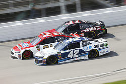 August 12, 2018 - Brooklyn, Michigan, United States of America - Kyle Larson (42), Paul Menard (21) and Kurt Busch (41) battle for position during the Consumers Energy 400 at Michigan International Speedway in Brooklyn, Michigan. (Credit Image: © Chris Owens Asp Inc/ASP via ZUMA Wire)