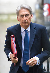 Downing Street, London, September 15th 2015.  Foreign Secretary Philip Hammond arrives at 10 Downing Street to attend the weekly cabinet meeting