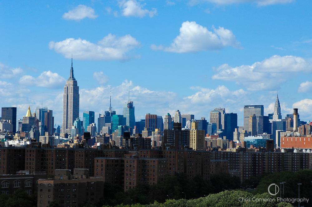 Manhattan seen from Brooklyn, New York City.
