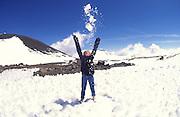 Snow, Mauna Kea, Island of Hawaii<br />