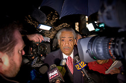Mar 04, 2010 : Harlem, NY : The Reverend Al Sharpton, often considered the voice of the black community in New York City, is surrounded by reporters looking for comment in regards to controversy swirling around New York Governor David Paterson, the state's first of African American descent..