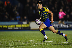 Tomos Williams of Cardiff Blues makes a break - Mandatory by-line: Craig Thomas/JMP - 14/01/2018 - RUGBY - BT Sport Cardiff Arms Park - Cardiff, Wales - Cardiff Blues v Toulouse - European Rugby Challenge Cup