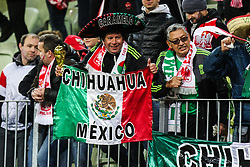 November 13, 2017 - Gdansk, Poland - Mexico's fans during the International Friendly match between Poland and Mexico at Energa Stadium in Gdansk, Poland on November 13, 2017. (Credit Image: © Foto Olimpik/NurPhoto via ZUMA Press)