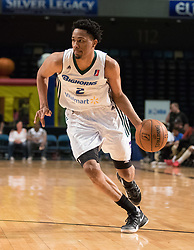 March 20, 2017 - Reno, Nevada, U.S - Reno Bighorn Guard LUIS MONTERO (2) during the NBA D-League Basketball game between the Reno Bighorns and the Texas Legends at the Reno Events Center in Reno, Nevada. (Credit Image: © Jeff Mulvihill via ZUMA Wire)