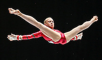 Noemi Makra of Hungary competes on the Uneven Bars during the women's all around final at the Artistic Gymnastics World Championships in Antwerp, Belgium, 04 October 2013.