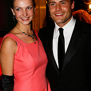 NLD/Amsterdam/20091121 - JFK Great men of the Year Gala 2009, Koert Jan de Bruijn en partner Charlotte Huiskamp