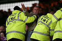 Photo: Alex Pelaez.<br /> Crystal Palace v Luton Town. Coca Cola Championship. 24/02/2007.<br /> Stewarts take Luton fan of the stadium