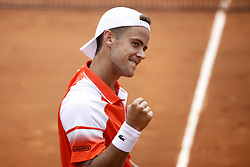 May 21, 2019 - Paris, France - Enzo Couacaud during the match between Paolo Lorenzi of ITA vs Enzo Couacaud of FRA in the first round qualifications of 2019 Roland Garros, in Paris, France, on May 21, 2019. (Credit Image: © Ibrahim Ezzat/NurPhoto via ZUMA Press)