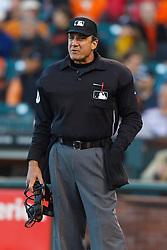 May 11, 2011; San Francisco, CA, USA;  MLB umpire Phil Cuzzi (10) stands behind home plate during the first inning between the San Francisco Giants and the Arizona Diamondbacks at AT&T Park.  San Francisco defeated Arizona 4-3.