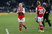 Kim Little claps the Arsenal fans after the FA Women's Super League match between Tottenham Hotspur Women and Arsenal Women FC at Tottenham Hotspur Stadium, London, United Kingdom on 17 November 2019.