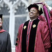 Bronx, NY / 2007 - New York Mets manager Willie Randolph received an honorary degree and was a special guest speaker at Fordham University's commencement exercises at the Rose Hill campus May 19, 2007. ( Mike Roy / The Journal News )