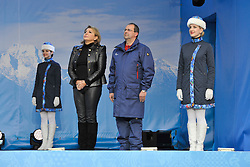 Women's 12km Cross Country Nordic Skiing Medal Ceremony at the 2014 Sochi Winter Paralympic Games, Russia