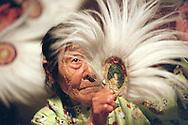 Elder MaryAnn Sundown dances at Bethel's Camai dance festival in 2002.