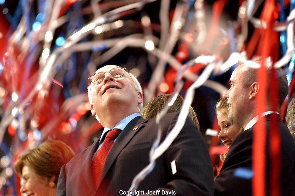 NEW YORK, NY - September 2, 2004: Vice President DICK Cheney on stage following George W. Bush's acceptance speech at the 2004 Republican National Convention.