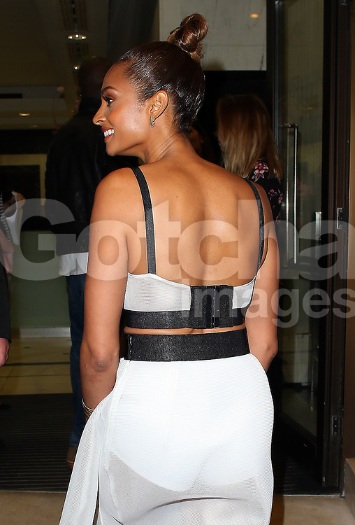 Alesha Dixon attends the James Ingham's Jog-On to Cancer charity fundraiser at the Kensington Roof Gardens in London, UK. 09/04/2015<br />