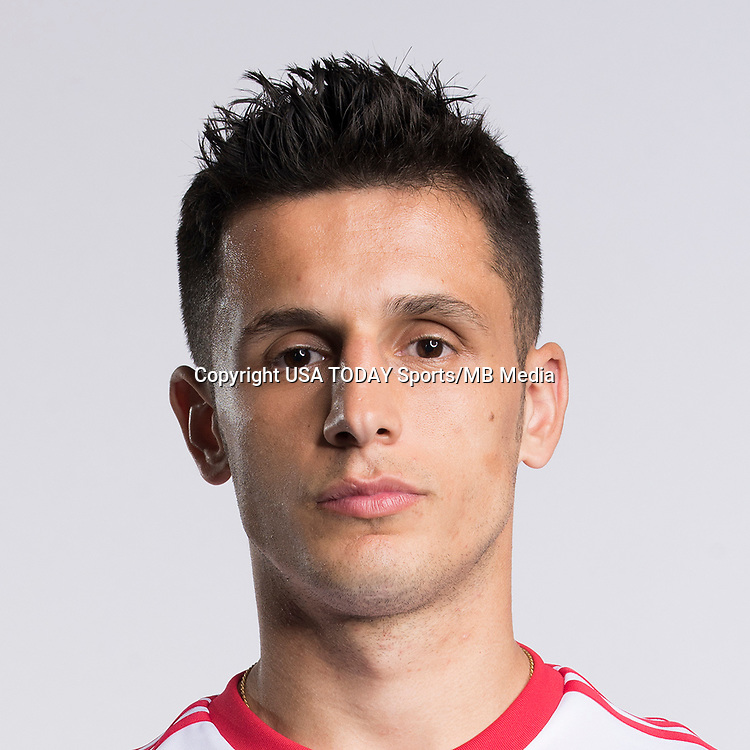 Feb 25, 2017; USA; New York Red Bulls player Arun Basuljevic poses for a photo. Mandatory Credit: USA TODAY Sports
