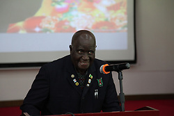 LUSAKA, April 22, 2014  Zambian former president Kenneth Kaunda speaks during a ceremony held in the Chinese Embassy in Lusaka, Zambia, April 21, 2014.  The Chinese Embassy in Lusaka on Monday celebrated the 90th birthday of former Zambian president Kenneth Kaunda. (Credit Image: © Xinhua via ZUMA Wire)