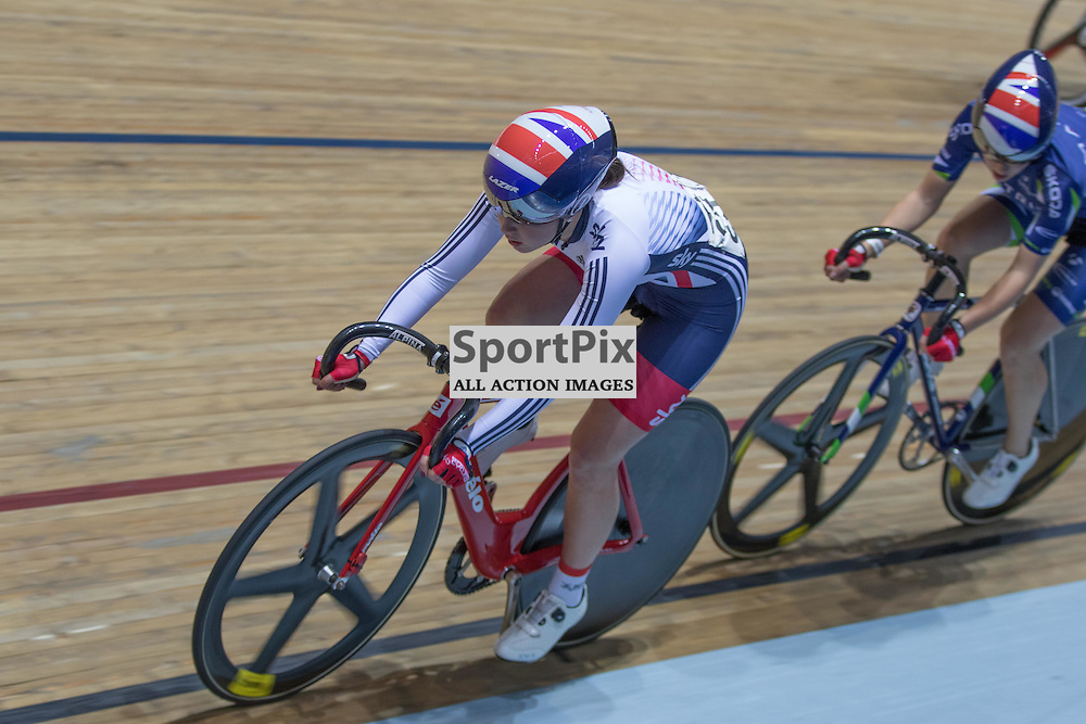 Lura Trott in the Women's 20km Points race during the Revoultion Series 2015/6 Round 5 Manchester, on 2 January 2016 ( (Photo by Mike Poole - SportPix)
