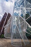 Wonderland Sculpture, The Bow & Suncor Energy Centre Towers