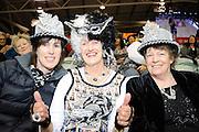 Silver Ferns Fans. Constellation cup netball. Silver Ferns v Australian Diamonds at ILT Velodrome, Invercargill, New Zealand. Sunday 15th september 2013. New Zealand. Photo: Richard Hood/photosport.co.nz