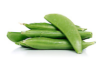 Studio shot of peas on white background