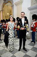 15.04.2015. Copenhagen, Denmark.Queen Letizia and King Felipe of Spain attended a Gala Dinner at Christiansborg Palace on the eve of The 75th Birthday of Queen Margrethe of Denmark.Photo:© Ricardo Ramirez