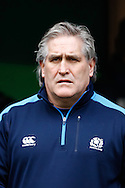 Scotland coach Scott Johnson looks on during the RBS Six Nations match between England and Scotland at Twickenham Stadium, UK, on the 2nd February 2013. (Photo by Andrew Tobin www.slikimages.com)