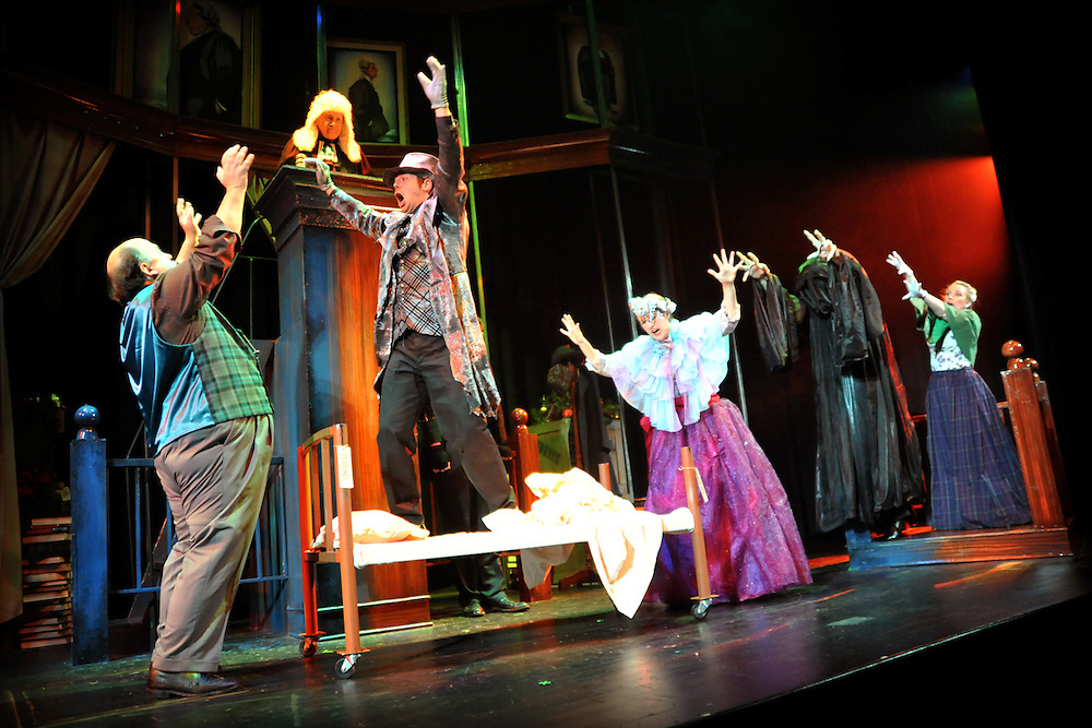 """Bag & Baggage production of """"The Trial of Ebenezer Scrooge"""" in Hillsboro, Ore.  December 6, 2010.  (photo by Casey Campbell)"""