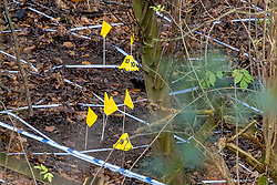 FILE IMAGE © Licensed to London News Pictures. 11/12/2019. Beaconsfield, UK. Police tape and evidence identification markers on woodland floor as the Metropolitan Police Service confirm they are searching woodland in Beaconsfield, Buckinghamshire in connection with the disappearance and murder of Mohammed 'Shah' Subhani. Police have been in the area conducting operations on Hedgerley Lane since Thursday 5th December 2019 and are combing wooded area with specialist officers assisted by specialist search dogs. Photo credit: Peter Manning/LNP