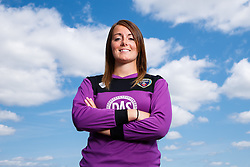 Hannah Reid poses for a portrait - Mandatory byline: Rogan Thomson/JMP - 07966 386802 - 09/07/2015 - SPORT - Football - Bristol, England - SGS Wise Campus, Filton - Bristol Academy Womens FC New Signings.