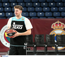 Luka Doncic, #7 of Real Madrid during the 2017 Turkish Airlines EuroLeague Final Four Real Madrid Practice at Sinan Erdem Dome on May 18, 2017 in Istanbul, Turkey. Photo by Matthaios Yorgos / Sportida