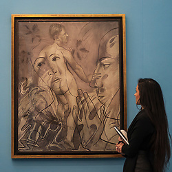 "© Licensed to London News Pictures. 28/01/2016. London, UK.   ""Transparence (La Source"" by Francis Picabia (est. £0.45-0.65m), on display at Sotheby's preview of its upcoming Impressionist, Modern & Surrealist art sale on 3 February featuring works by some of the most important artists of the 20th century.  The combined total of the evening sale is expected to exceed £100m. Photo credit : Stephen Chung/LNP"