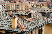 Terra cotta rooftops of Segovia, Spain.