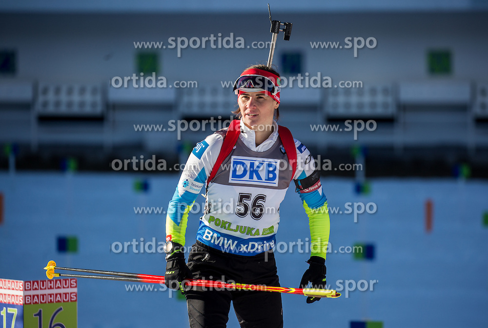 Andreja Mali (SLO) competes during Women 7,5 km Sprint at day 2 of IBU Biathlon World Cup 2015/16 Pokljuka, on December 18, 2015 in Rudno polje, Pokljuka, Slovenia. Photo by Vid Ponikvar / Sportida