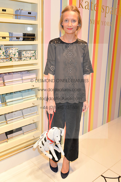 MARTHA WARD at the opening party of the new Kate Spade New York store at 182 Regent Street, London on 21st April 2016.
