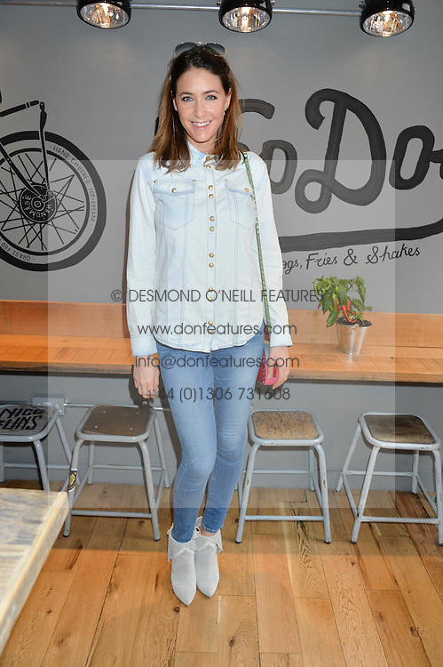 LISA SNOWDON at a party to celebrate the launch of Top Dog at 48 Frith Street, Soho, London on 27th May 2015