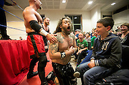 catch café in heultje-georganiseerd door de Flemish Wrestling Force-wedstrijd amerikaans worstelen-foto joren de weerdt