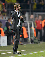 FUSSBALL  CHAMPIONS LEAGUE  HALBFINALE  HINSPIEL  2012/2013      Borussia Dortmund - Real Madrid              24.04.2013 Trainer Juergen Klopp (Borussia Dortmund) engagiert an der Seitenlinie