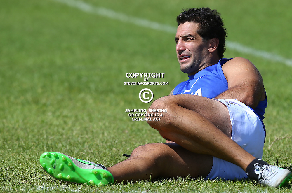 Cape Town, SOUTH AFRICA,  12, February  2016 - Juan Manuel Leguizamon during the Captain Run for The Jaguares at City Park Newlands Rugby Stadium Cape Town, South Africa. (Photo by Steve Haag)<br /> <br /> Images for social media must have consent from Steve Haag
