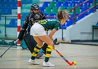 AMSTERDAM  -  Eva van 't Hoog (HDM)  tijdens het starttoernooi zaalhockey in Sporthallen Zuid.    COPYRIGHT KOEN SUYK